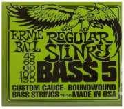 Encordoamento Ernie Ball para Baixo 5 Cordas, Regular Slinky Bass 5 .045-.130 - 2836 - Transa Som Instrumentos Musicais