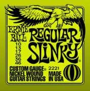 Encordoamento Ernie Ball para Guitarra 010, Regular Slinky .010-.046 - 2221 - Transa Som Instrumentos Musicais