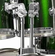 Bateria Infantil Turbo JR 4322 - Verde Metálico - Transa Som Instrumentos Musicais