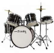 Bateria Infantil Turbo JR 4322 - Preta - Transa Som Instrumentos Musicais