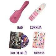 Kit Violão Infantil Nylon Acústico Gypsy Rose GRC1 c/ Bag, Correia, DVD e Adesivos - Roxo - Transa Som Instrumentos Musicais