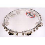 Pandeiro Contemporânea 10 Pol. Acrílico c/ Pele Transparente - Transa Som Instrumentos Musicais
