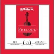 Encordoamento D Addario Prelude J810 para Violino, Tens�o M�dia
