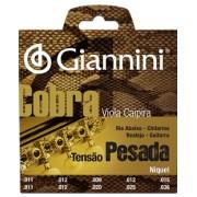 Encordoamento Giannini Cobra para Viola Caipira, Tens�o Pesada GESVNP .011 -036