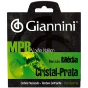 Encordoamento Giannini para Viol�o Nylon S�rie MPB GENWS - Tens�o M�dia