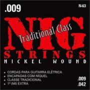 Encordoamento Nig para Guitarra S�rie Traditional Class N-63, 0.09 -0.42