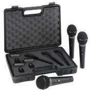 Kit de Microfone Behringer XM1800S  c/ 3 Microfones - Transa Som Instrumentos Musicais