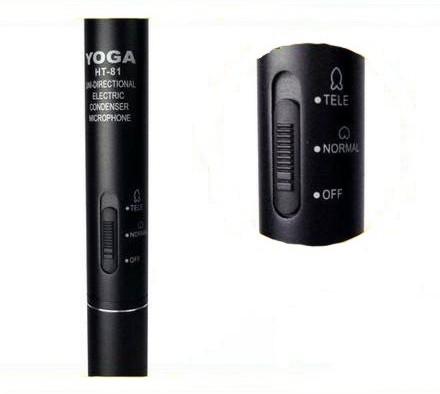 Microfone Yoga HT 81 Direcional Shotgun, Boom  - Transa Som Instrumentos Musicais