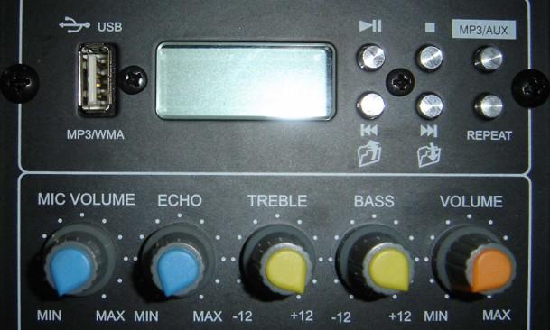 Caixa Amplificada CSR 2500A, c/ Entrada USB, Efeito Echo, 100W RMS, Bivolt  - Transa Som Instrumentos Musicais
