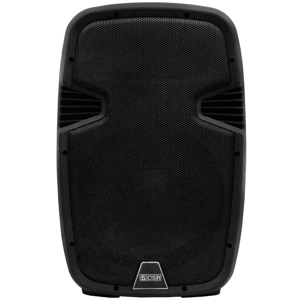 Caixa Amplificada CSR 5510A, c/ Entradas USB/SD, Efeito Echo, 100W RMS  - Transa Som Instrumentos Musicais