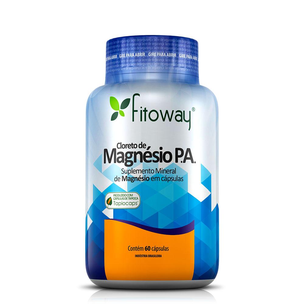 2cae27c45 Cloreto de Magnésio P.A Fitoway - 60 Cápsulas Vegetal - L.A VIDAL  REPRESENTAÇÕES ...