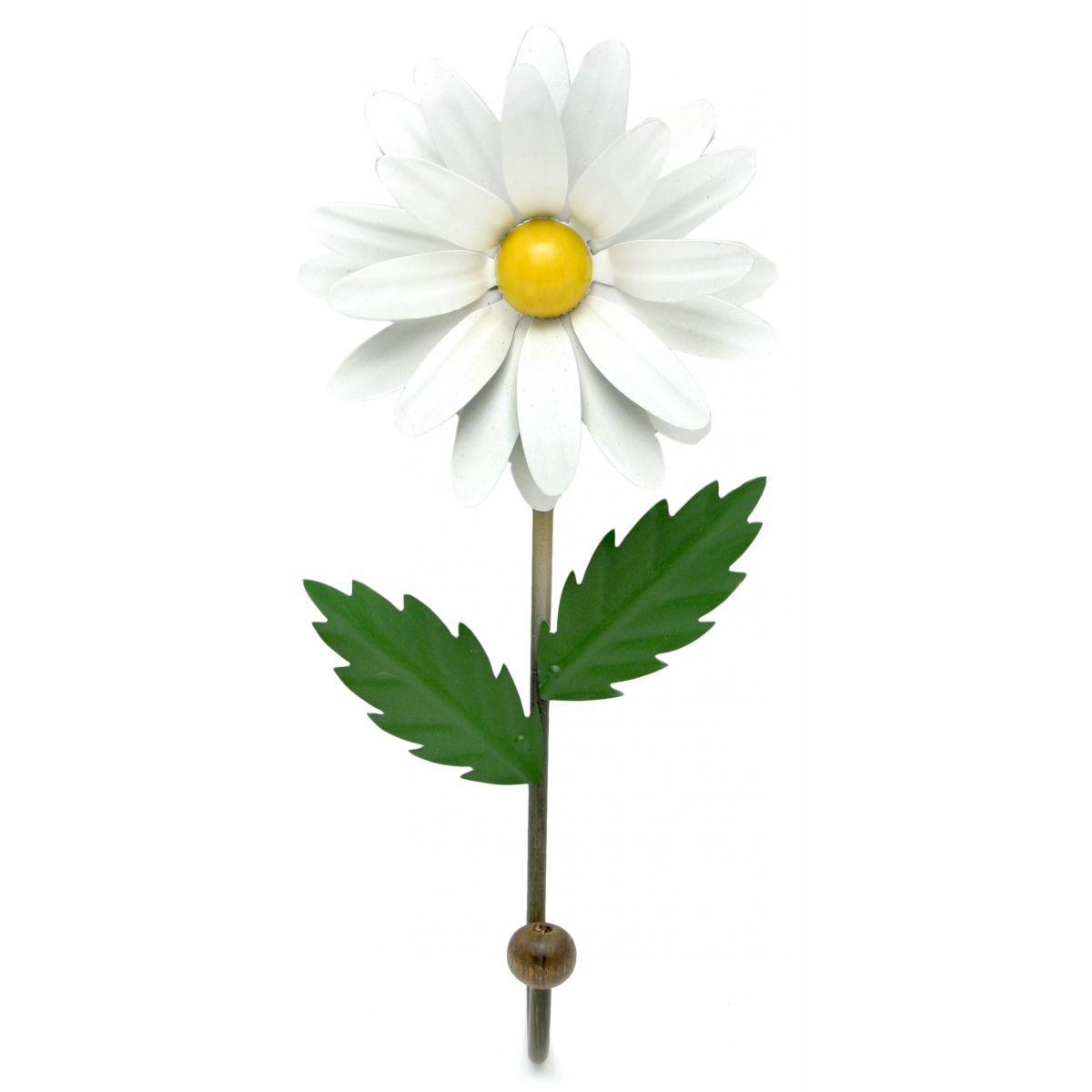 Cabideiro De Ferro Rústico Artesanal Gancho Flor Branco 1g