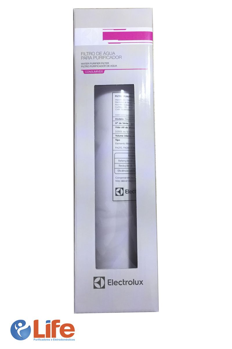 Filtro Electrolux PAUFCB30 - Aplicação em Purificadores PA21G, PA26G e PA31G
