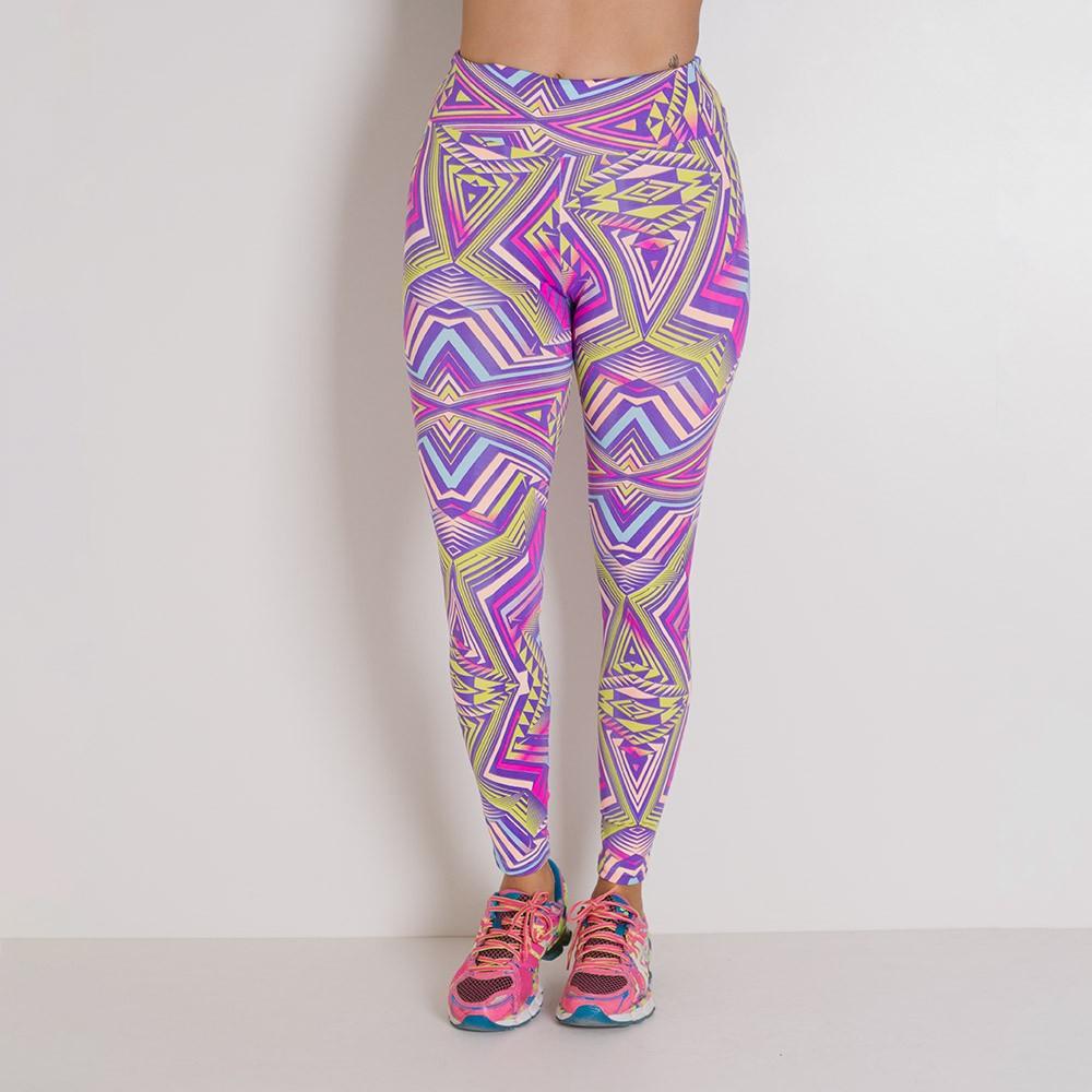 Calça Legging Básica Fitness Go Fit Rio Rosa