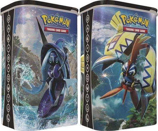 2 Latas De Pokémon Porta Cards Tapu Koko e Tapu Fini