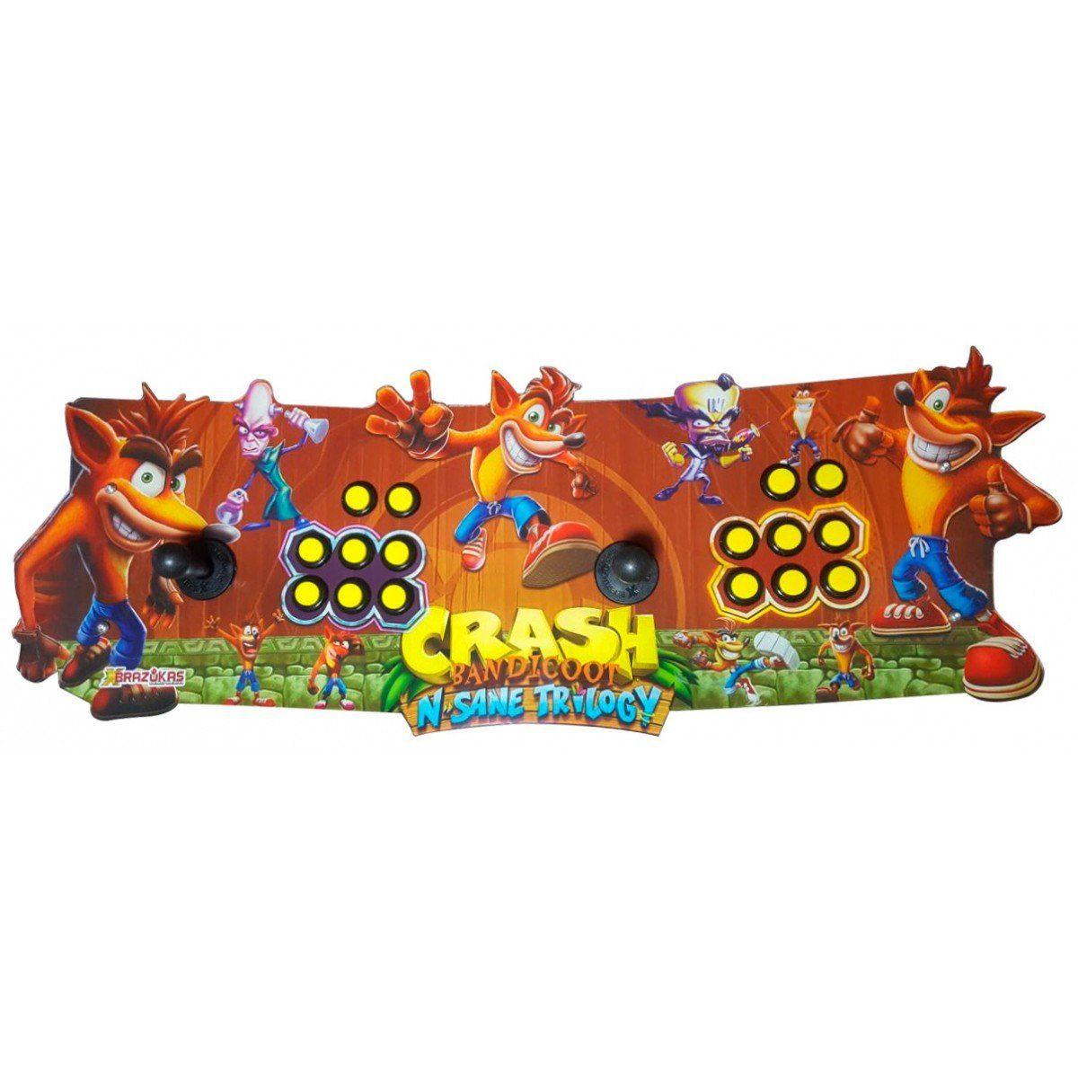 Arcade Fliperama Portatil com 14 mil Jogos desenho do Crash