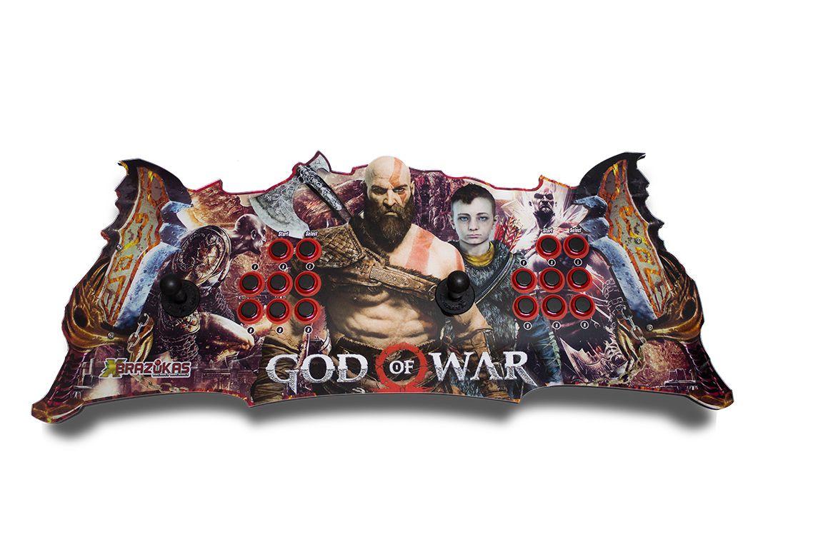 Arcade Fliperama Portatil com 14 mil Jogos desenho Kratos