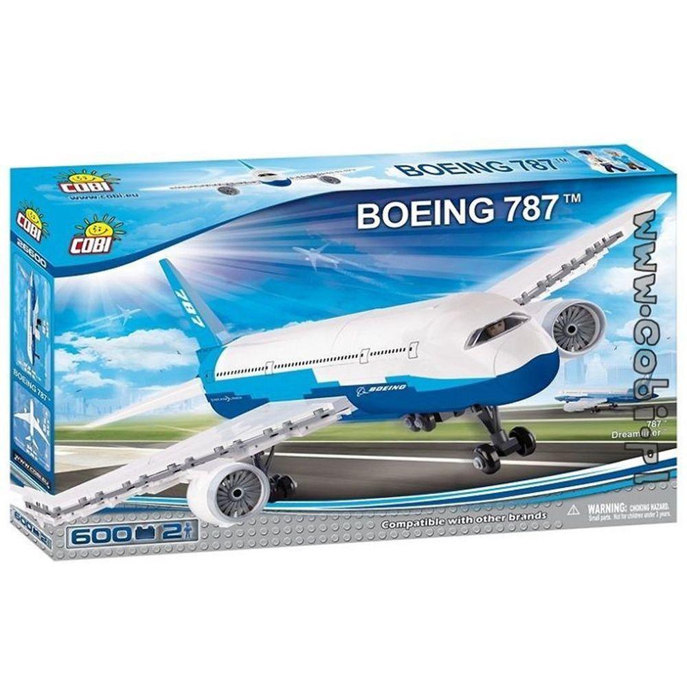Aviao Boeing 787 com 600 Pçs Cobi Blocos de Montar