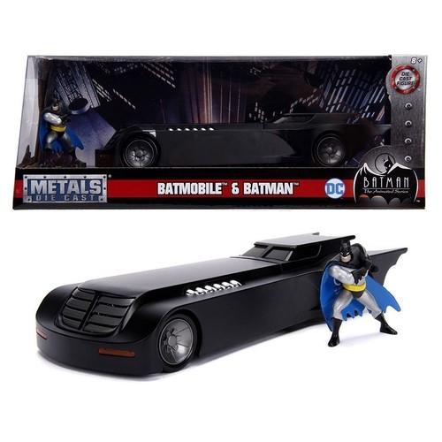 Batman e Batmobile - Batmóvel The Animated Series - Hollywood Rides - 1/24 - Jada