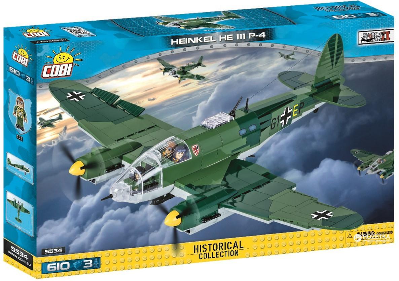 Blocos de Montar Avião Bombardeiro Heinkel He 111 P-4 - 610 Peças - Cobi