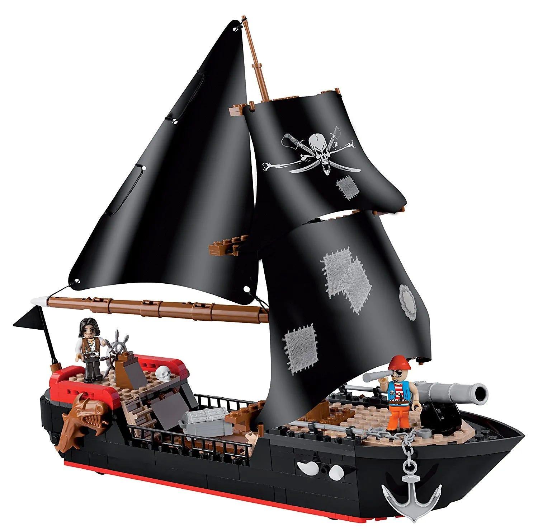 Blocos Para Montar Barco Piratas Corsair 320 Peças - Cobi