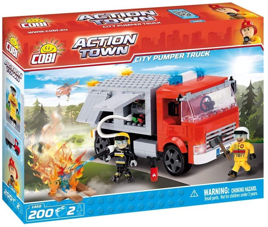 Blocos Para Montar Caminhão De Bombeiros - 200 peças - Cobi