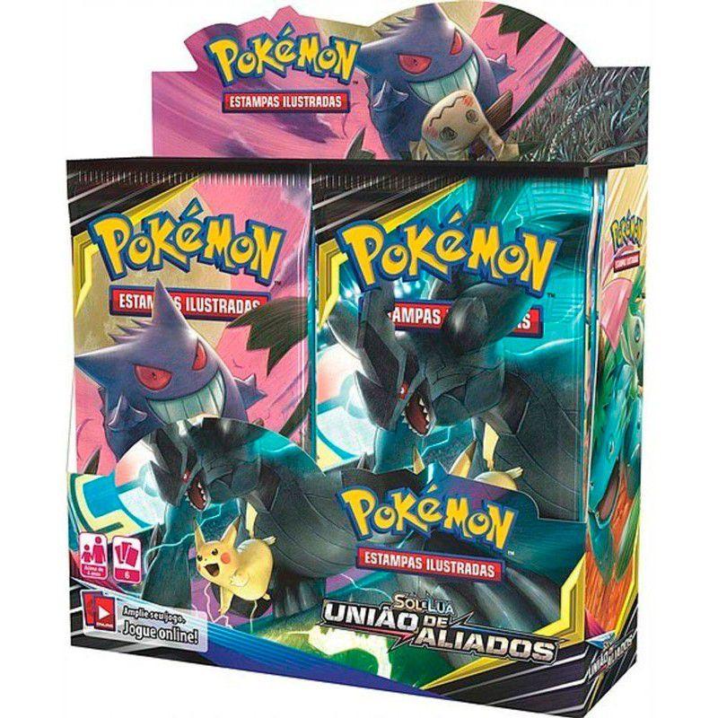 Box 36 Booster Pokémon Sol & Lua 9 União De Aliados Copag