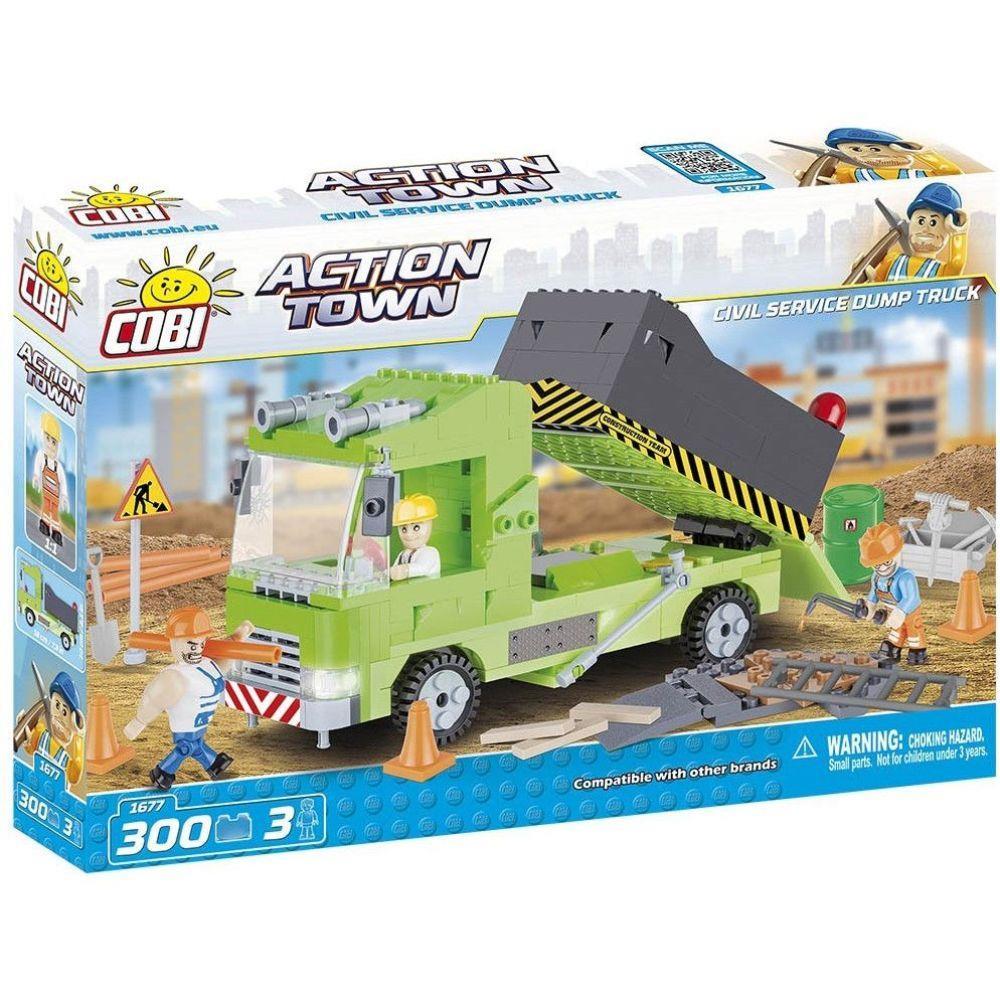 Caminhão de Obra Blocos de Montar com 300 Peças - Cobi