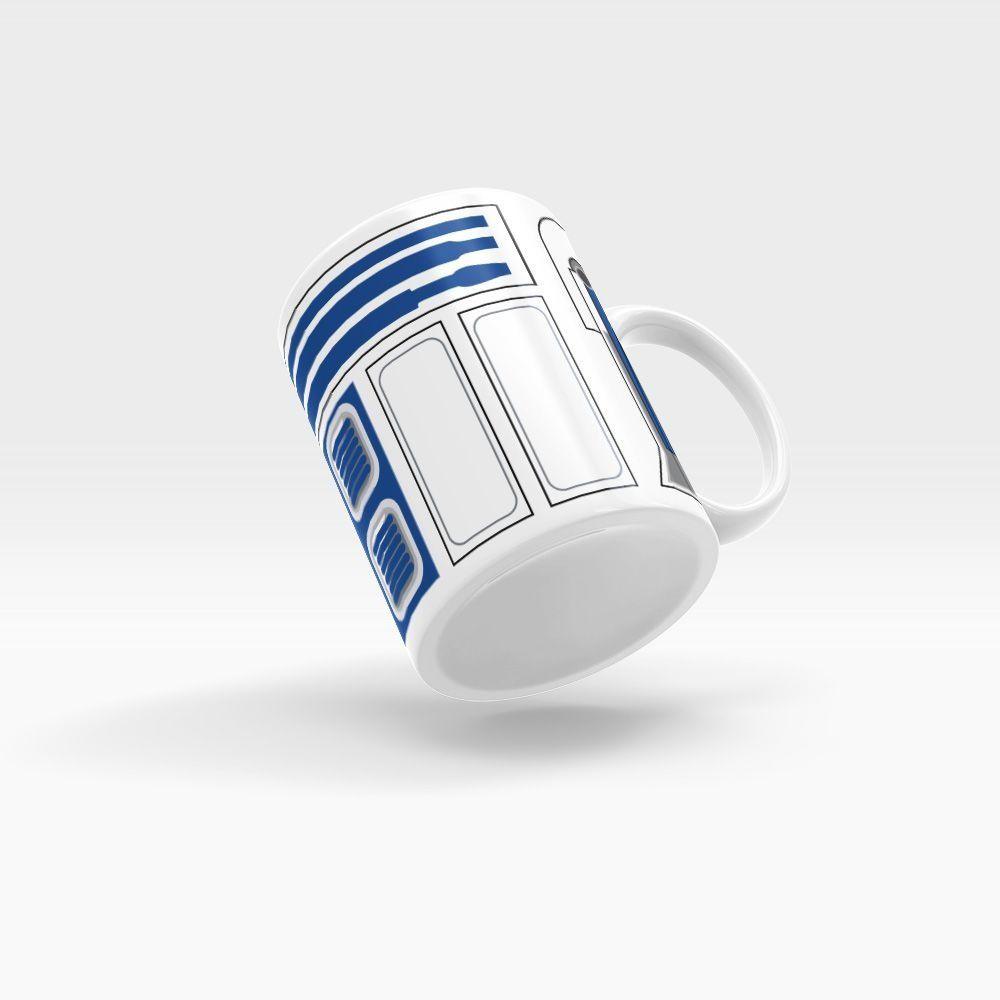 Caneca Personalizada Cerâmica Robô Azul - Beek