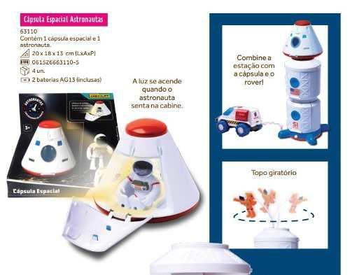 Cápsula Espacial - Linha Astronautas - Brinquedos Chocolate