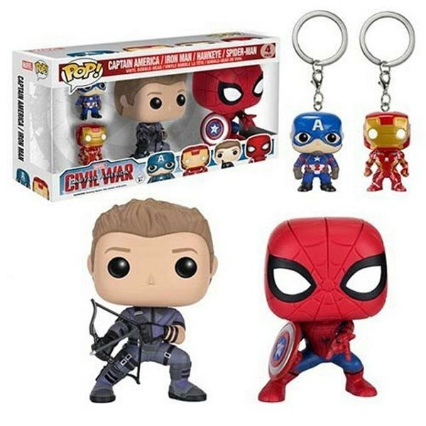 Captain America 3 - Civil War 4-Pack Funko Pop! Marvel