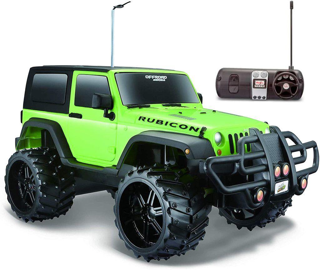 Carro Controle Remoto - Jeep Wrangler Rubicon R/C - Off Road Series - Verde - 1:16