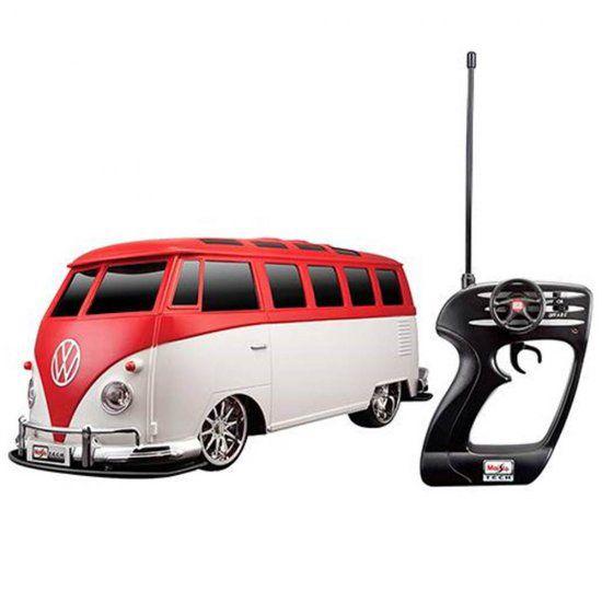 Carro Controle Remoto - Volkswagen Kombi Van Samba R/C - 1:10 - Maisto