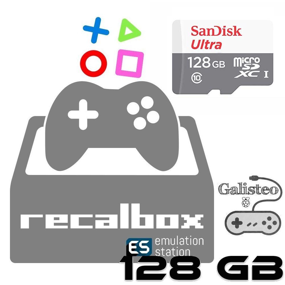 Cartão Micro Sd 128gb Sistema - Galisteo Recalbox 6.0 Raspberry