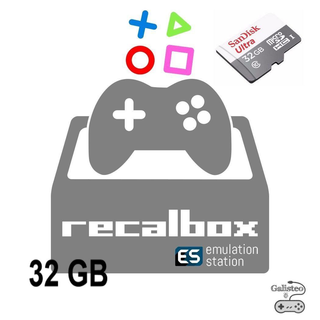 Cartão Micro Sd 32gb Galisteo Recalbox 6.0 Raspberry