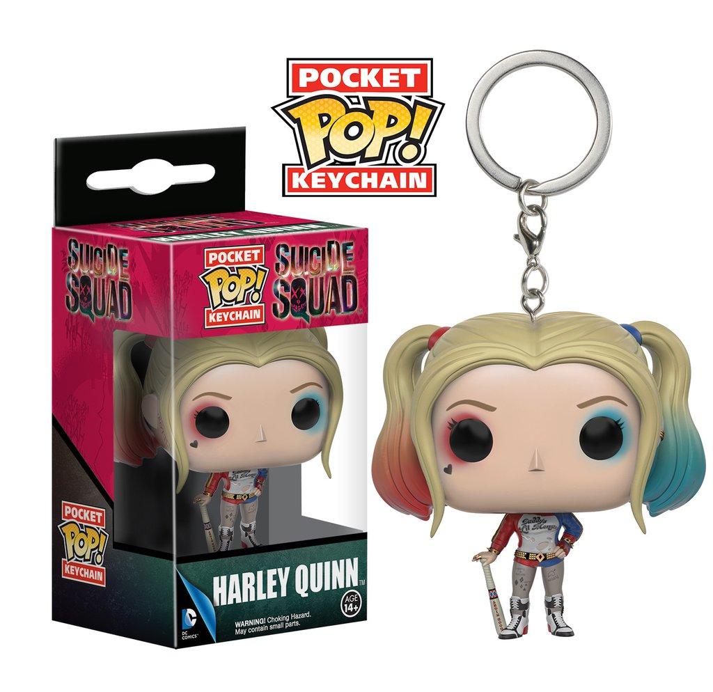 Chaveiro Harley Quinn - Esquadrão Suicida Pocket Pop! Funko