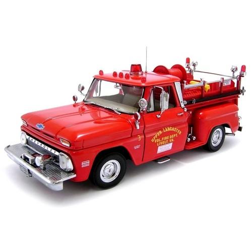 Chevrolet C-20 Pick-Up Bombeiro Truck 1965 Sunstar 1:18 Vermelho