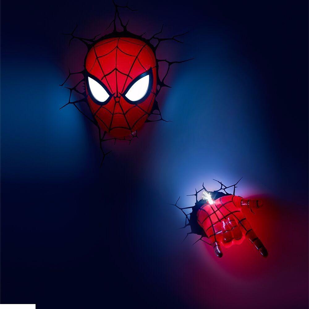 Conjunto Luminárias 3D Light FX Homem Aranha