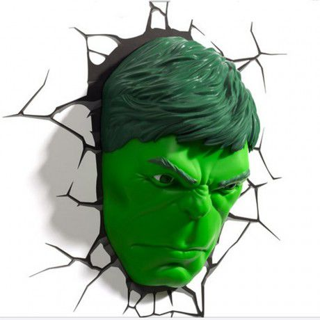Conjunto Luminárias 3D Light FX Hulk