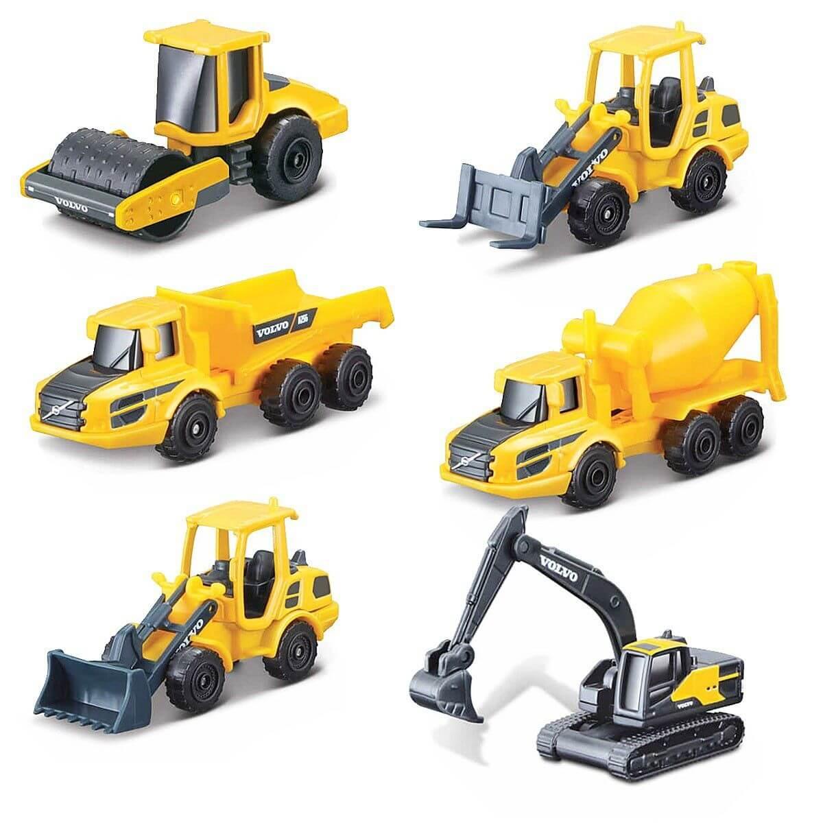 Conjunto Playset Construção com 6 Miniaturas - Volvo - 1/64 - Maisto