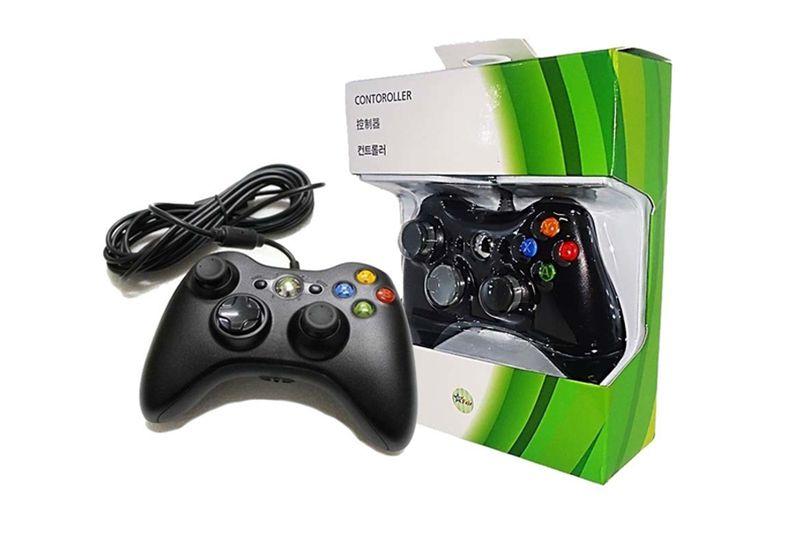 Controle Joystick Com Fio Usb Para Xbox 360 e Pc Feir