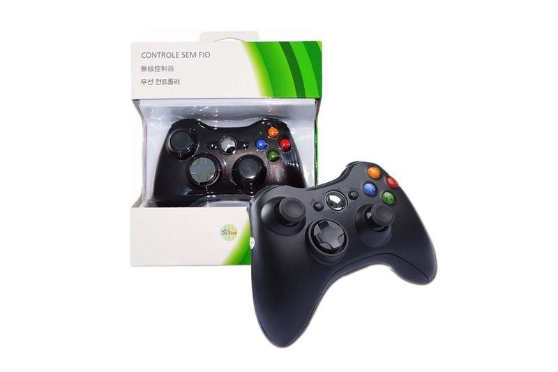 Controle Joystick Wireless Sem Fio Para Xbox 360 - Feir