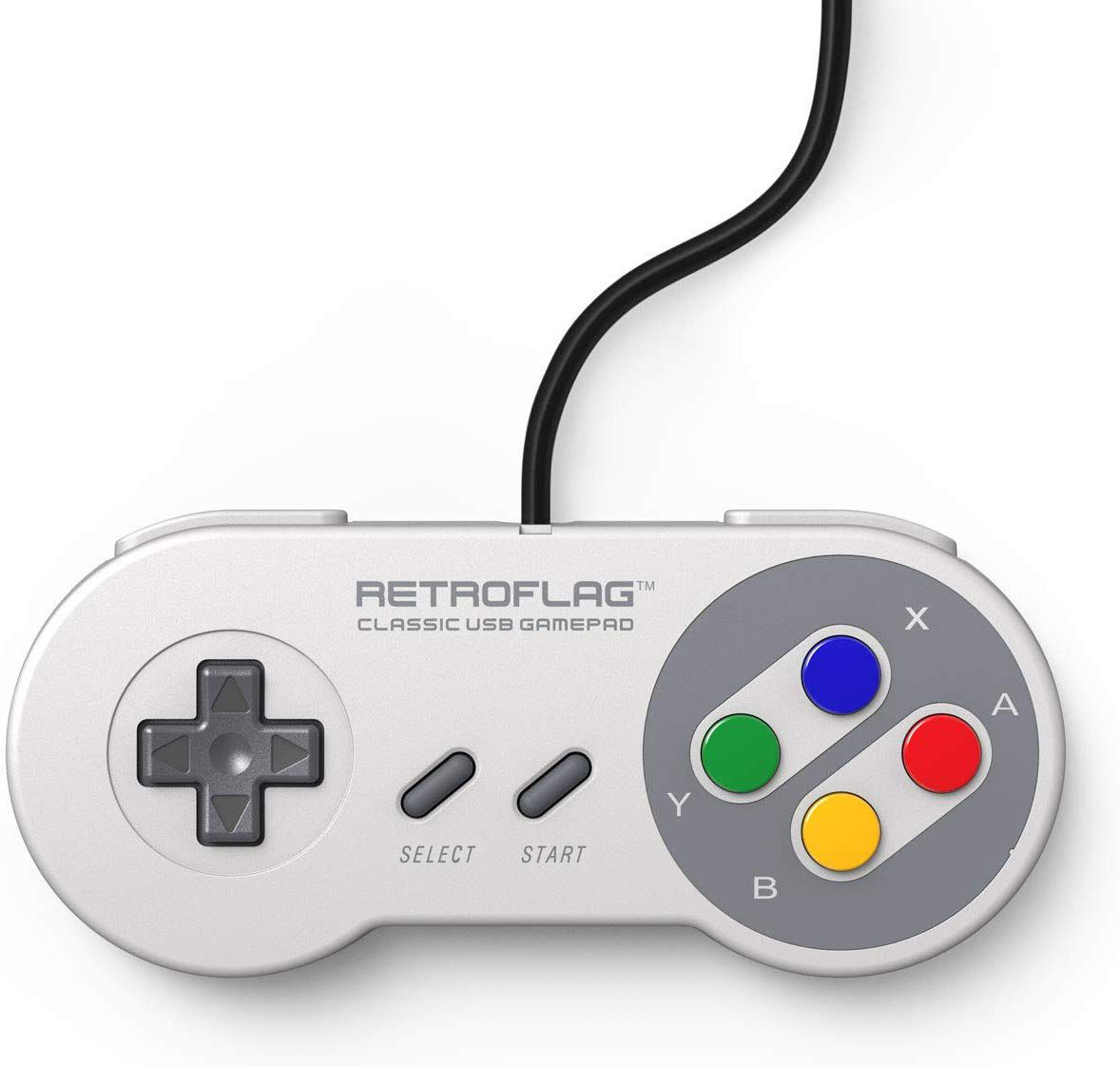 Controle Snes Usb Original Retroflag Botoes Coloridos