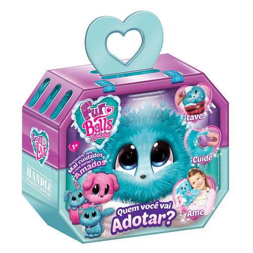 Fur Balls Pets Adotados Surpresa Azul - Fun Divirta-se