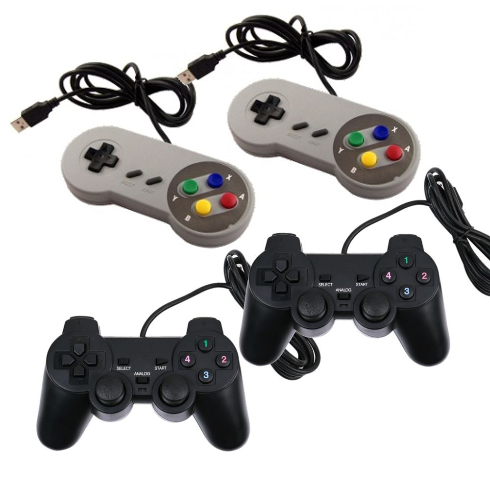Game Retro com 14 MIL Jogos 32GB com 4 Controles usb - black - pi 3 B+