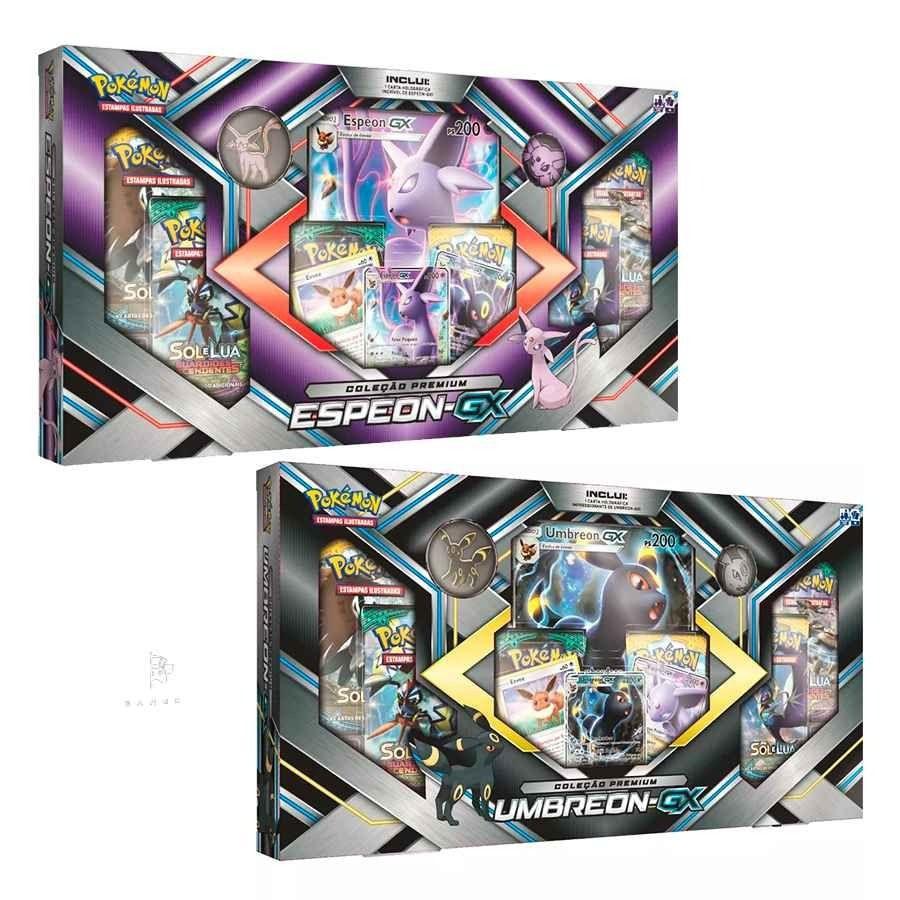 Kit com 2 Jogos Pokémon - Coleção Premium - Umbreon-GX e Espeon-GX