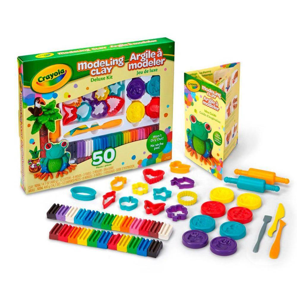 Kit de Massinha Deluxe + Formas e Acessórios Crayola