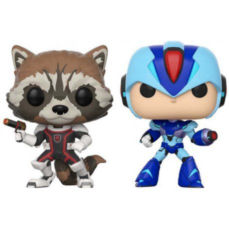 Marvel vs. Capcom Rocket vs Mega Man X Funko Pop