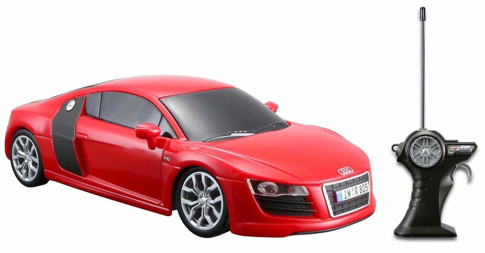 Miniatura Audi R8 V10 Controle Remoto Vermelho Maisto 1/24