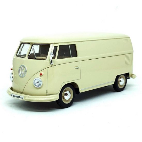 Miniatura Carro Volkswagen T1 Kombi / Bus (1963) - Bege - 1:24 - Welly